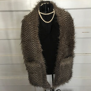 KARL LAGERFELD FOR IMPULSE FAUX FUR GLAM  STOLE